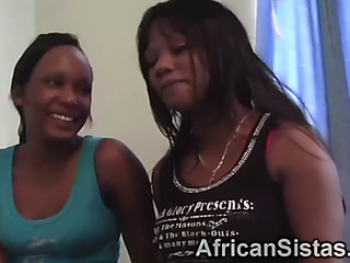 Fat african lesbo pair win into some derisive activities