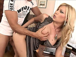 Immaculate office cutie receives a surprise fuck dub from her dude hardcore