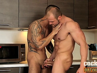 Muscle faggoty anal sex with the addition of facial