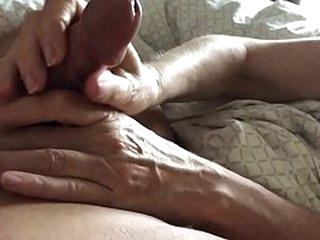 amateur wife gives teasing handjob