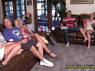 Copulation Freak Family Collecting Finish out an Orgy