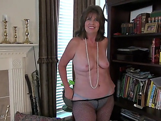 Through-and-through american older mommy bunny with plaything