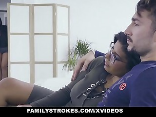 FamilyStrokes - Hot Latin Duplicate Sisters Compete Of Flannel