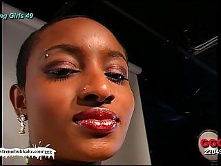 Ebony Tot Audry be passed on Cum aim - Extreme Bukkake