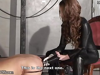 Japanese Femdom Deep Anal Horse Dildo be fitting of Slave
