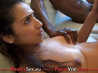 Beurette arab blinded fuck with 3 strangers !!! French second-rate