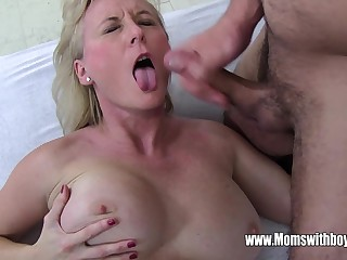 Stepmom Demands Anal From Drowsy Young gentleman And Gets It