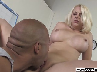Lassie watching well-endowed maw Mandy Sweet taking a BBC