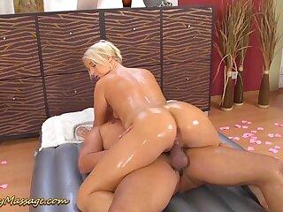 on touching ass slippery rub down