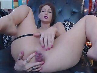 fabulous anal camgirl shows off triumvirate anal skills! analcams.com