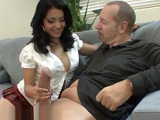 Flimsy Latina Schoolgirl Wants Old Teachers Dick