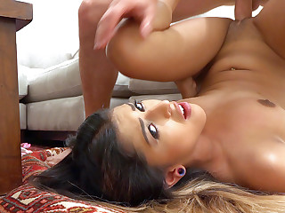 Sophia Leone with regard to Down in the mouth Latina's Facial - LatinaSexTapes