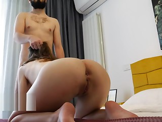 MY ROOMMATE SEDUCED ME With respect to HOT SQUATS TILL I Doze off Yon FUCK Their way ASS! 4K