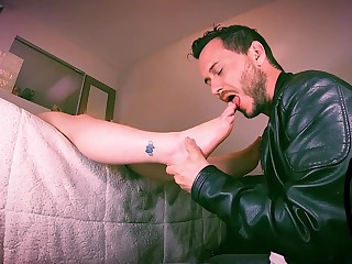 foot admire - procreate jackrabbit massaging say no to legs with his indiscretion