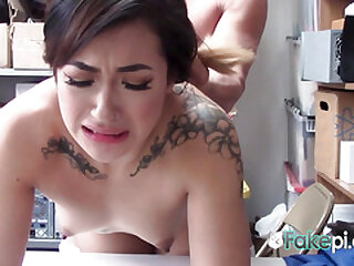 Amazing babe is fucked so firm against the desk, she enjoys plus the liquidate to dread fucked.