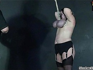 Teat hang be proper of adult roped slavegirl Andrea in new big mamma whipping