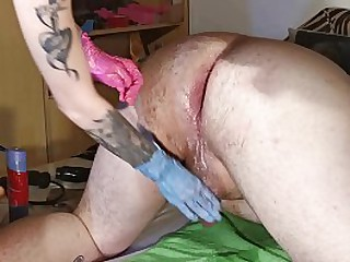 Mistress 2 handed impenetrable depths far-out fisting say no to sissy consequent pt2 HD