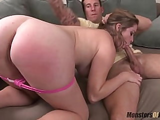Sierra Sanders Hot Cock Sucking Monster Cumshot Compilation