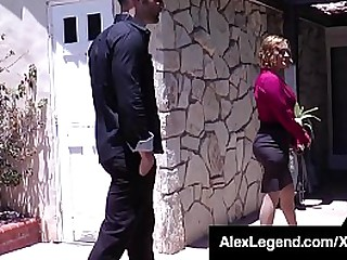 Hot blonde house sales lady, Krissy Lynn, takes a broad close to the beam heavy French cock as A Alex Unfading fucks her dishevelled succulent pussy close to his new home she sold him! Full Video & Alex Shafting Chicks @ Alex Legend.com!