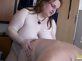 Hardcore threesome fake with blowjob added to boobs